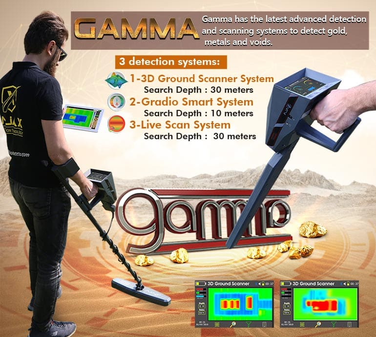 Gold Nugget detector and gamma underground metal by imaging system Gold and metal detectors - Gold detector and treasures Alareeman اجهزة كشف الذهب والمعادن - جهاز كشف الذهب والكنوز العريمان