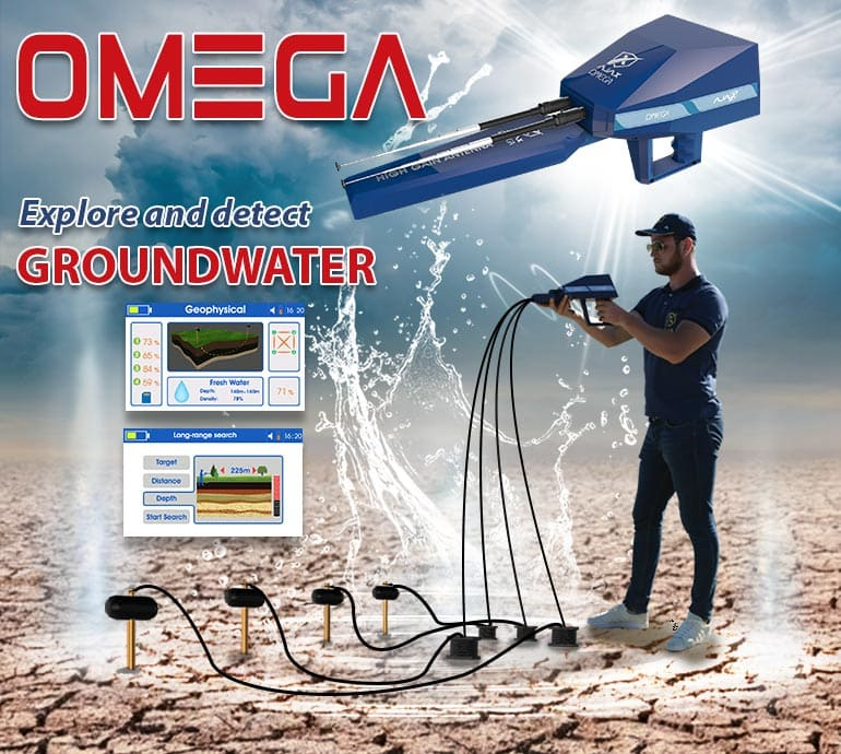 Groundwater detectors and distinguish between water types in the ground Gold and metal detectors - Gold detector and treasures Alareeman اجهزة كشف الذهب والمعادن - جهاز كشف الذهب والكنوز العريمان