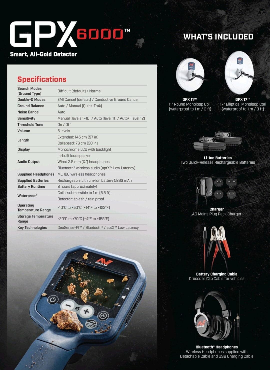 جهاز كشف الذهب GPX 6000 Minelab Gold Detector New 2021